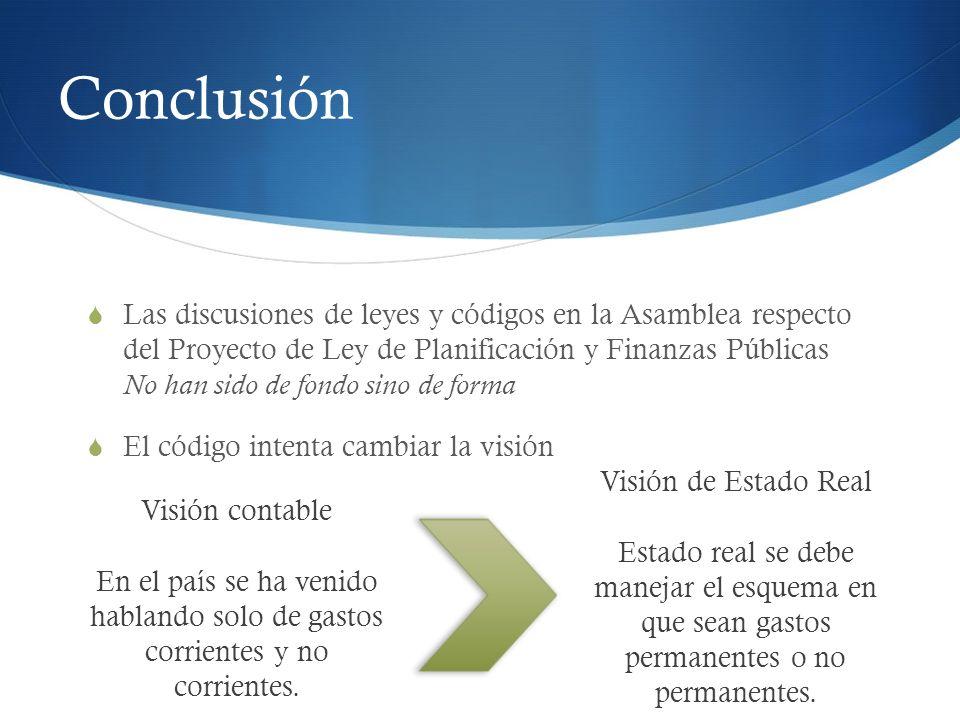 Conclusión Corriente sólo busca de corto plazo, no dirigido al desarrollo.
