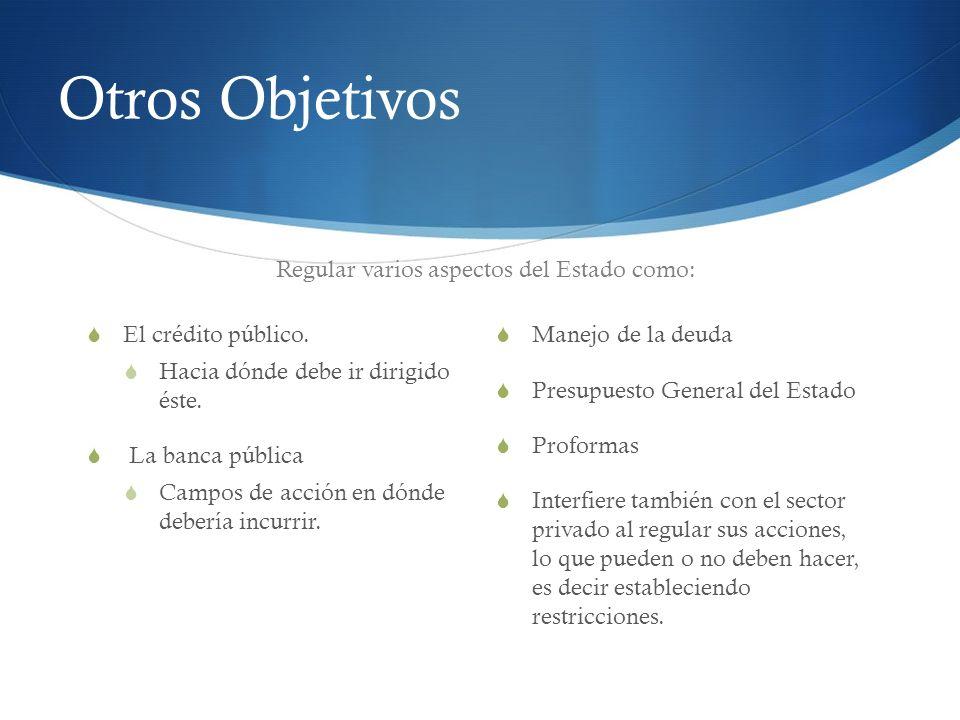 Otros Objetivos Además… Coordinar la planificación nacional con la planificación de distintos niveles de gobierno.