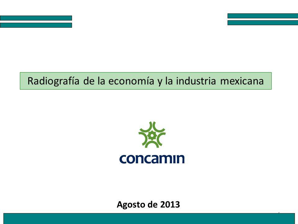 1 Radiografía de la economía y la industria mexicana Agosto de 2013