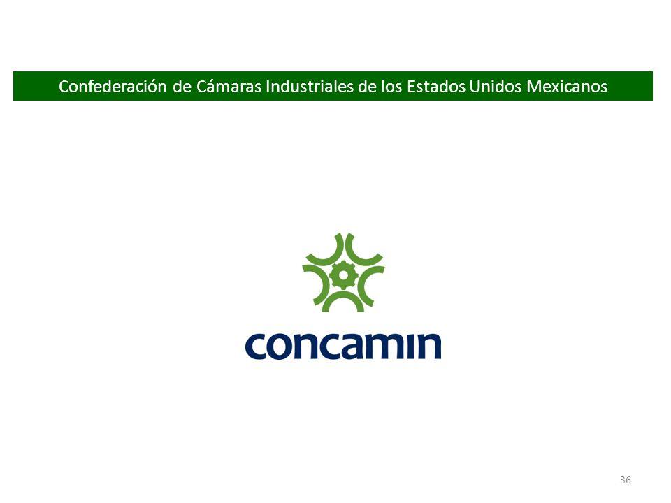 36 Confederación de Cámaras Industriales de los Estados Unidos Mexicanos