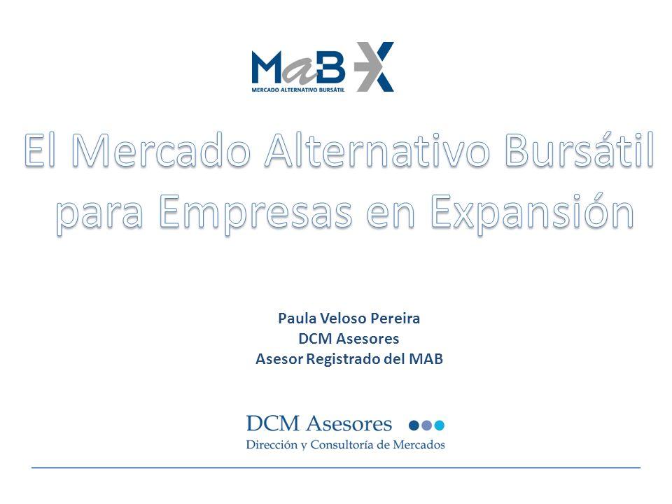 El Mercado Alternativo Bursátil Salida a Bolsa mediante: -OPS: ampliación de capital.