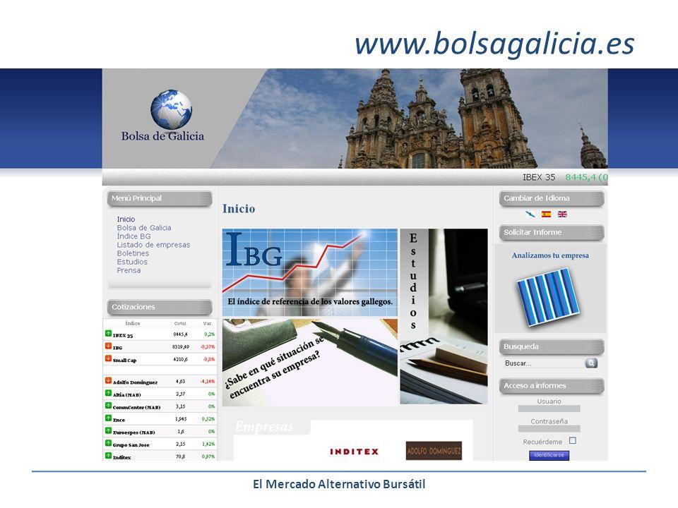 El Mercado Alternativo Bursátil www.bolsagalicia.es