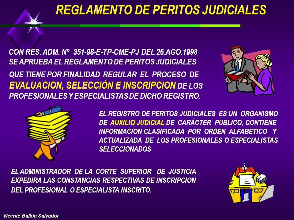 REGISTRO DE PERITOS JUDICIALES REPEJ CON RES. ADM. N° 609-98-CME-PJ DEL 13.ABRIL.98 SE CREO EL REGISTRO DE PERITOS JUDICIALES (REPEJ), EN CADA DISTRIT