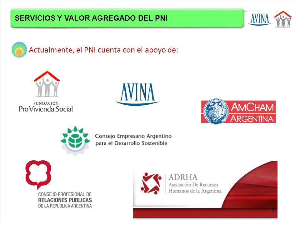 Actualmente, el PNI cuenta con el apoyo de: SERVICIOS Y VALOR AGREGADO DEL PNI 8
