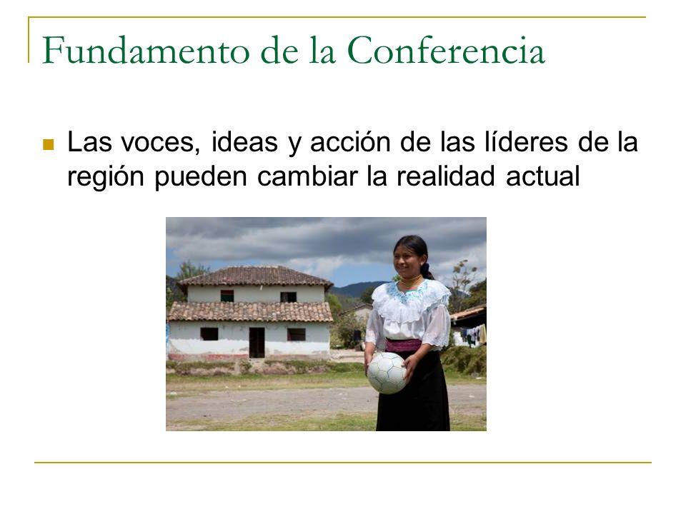 Fundamento de la Conferencia Las voces, ideas y acción de las líderes de la región pueden cambiar la realidad actual