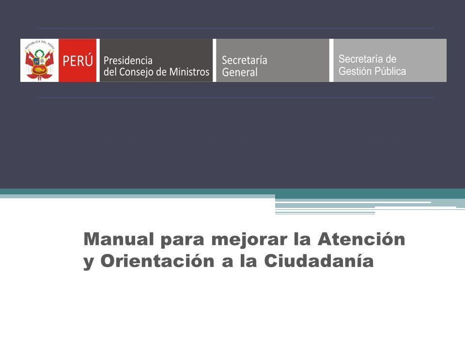 Tercer Diplomado Virtual en Simplificación Administrativa Manual para mejorar la Atención y Orientación a la Ciudadanía
