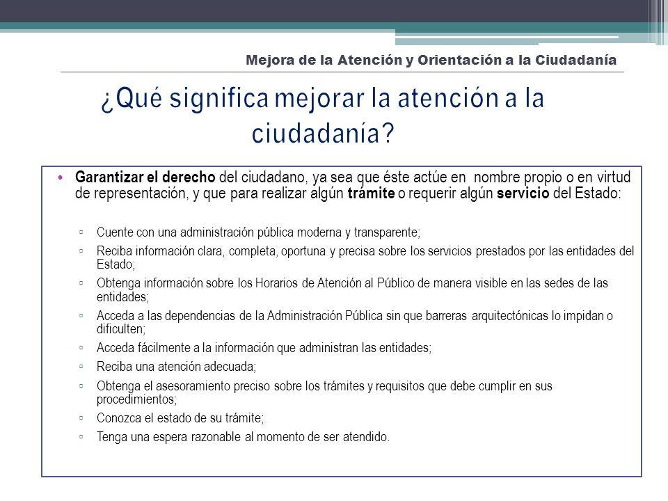 Acceso a la información Mejora de la Atención y Orientación a la Ciudadanía Sub-elementosClasificación BásicoMedioAvanzado Acceso a la información Se cumple con los requisitos y condiciones señalados en la Ley N° 27806, Ley de Transparencia y Acceso a la Información Pública.