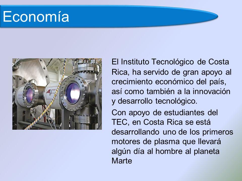 El Instituto Tecnológico de Costa Rica, ha servido de gran apoyo al crecimiento económico del país, así como también a la innovación y desarrollo tecnológico.