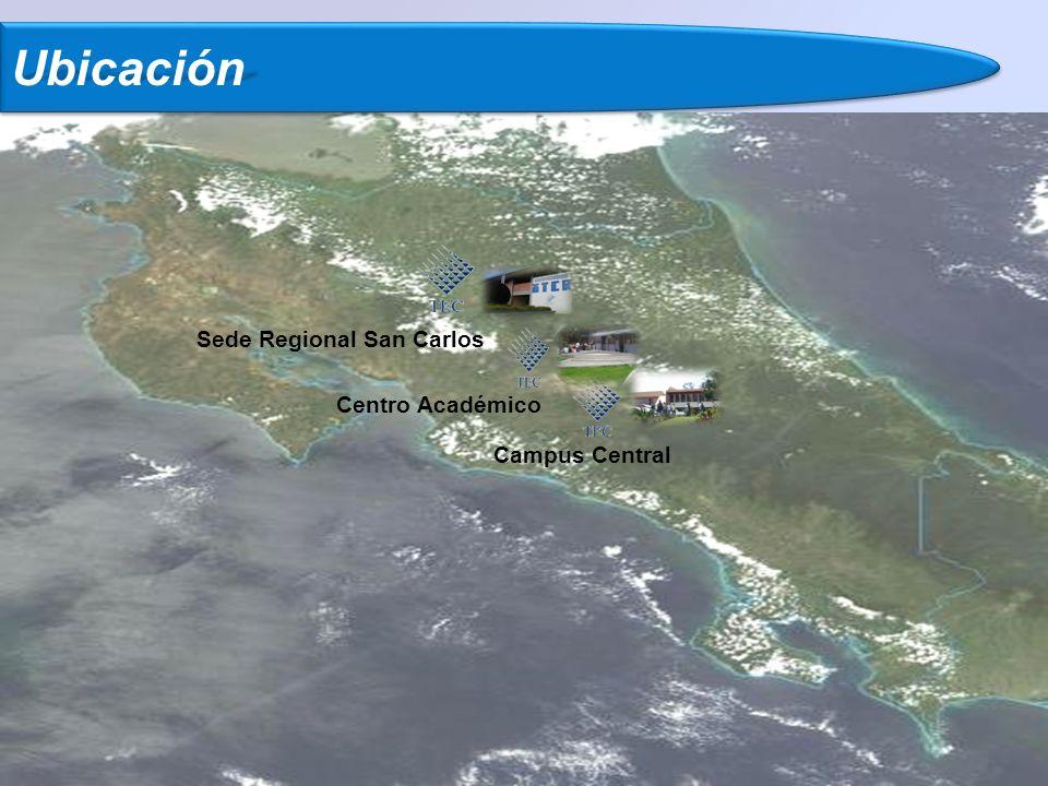UbicaciónUbicación Sede Regional San Carlos Centro Académico Campus Central