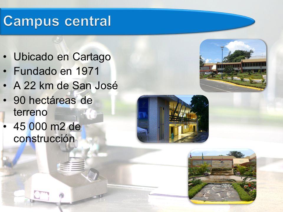 Ubicado en Cartago Fundado en 1971 A 22 km de San José 90 hectáreas de terreno 45 000 m2 de construcción
