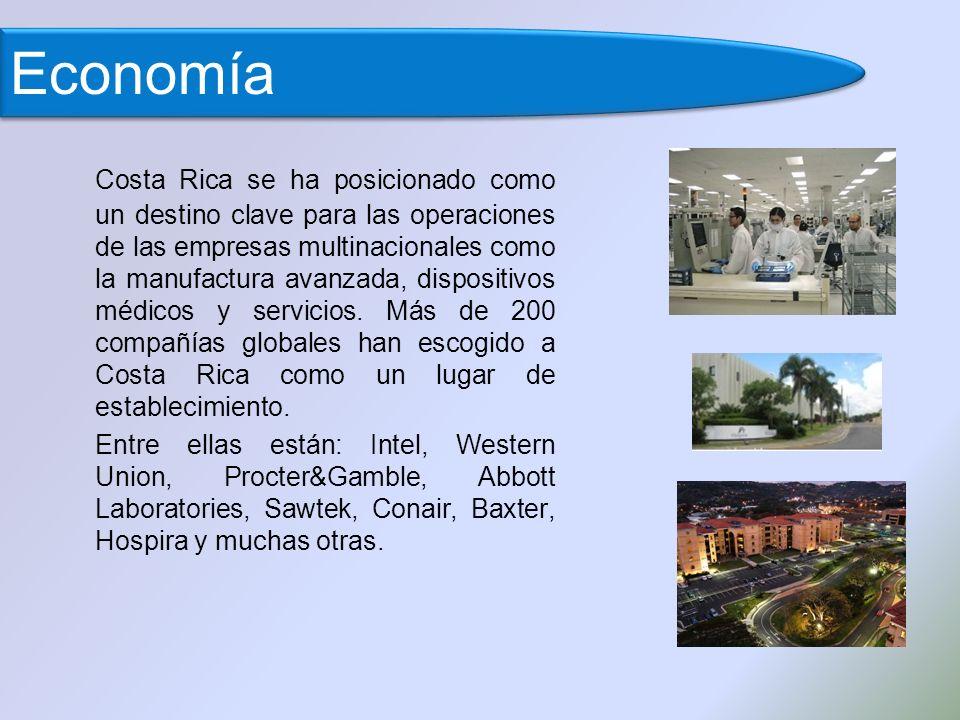 Costa Rica se ha posicionado como un destino clave para las operaciones de las empresas multinacionales como la manufactura avanzada, dispositivos médicos y servicios.