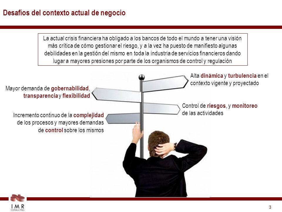 4 Imperativos a considerar Manejar en forma simple los escenarios de mercado, estructuras organizativas y procesos complejos.