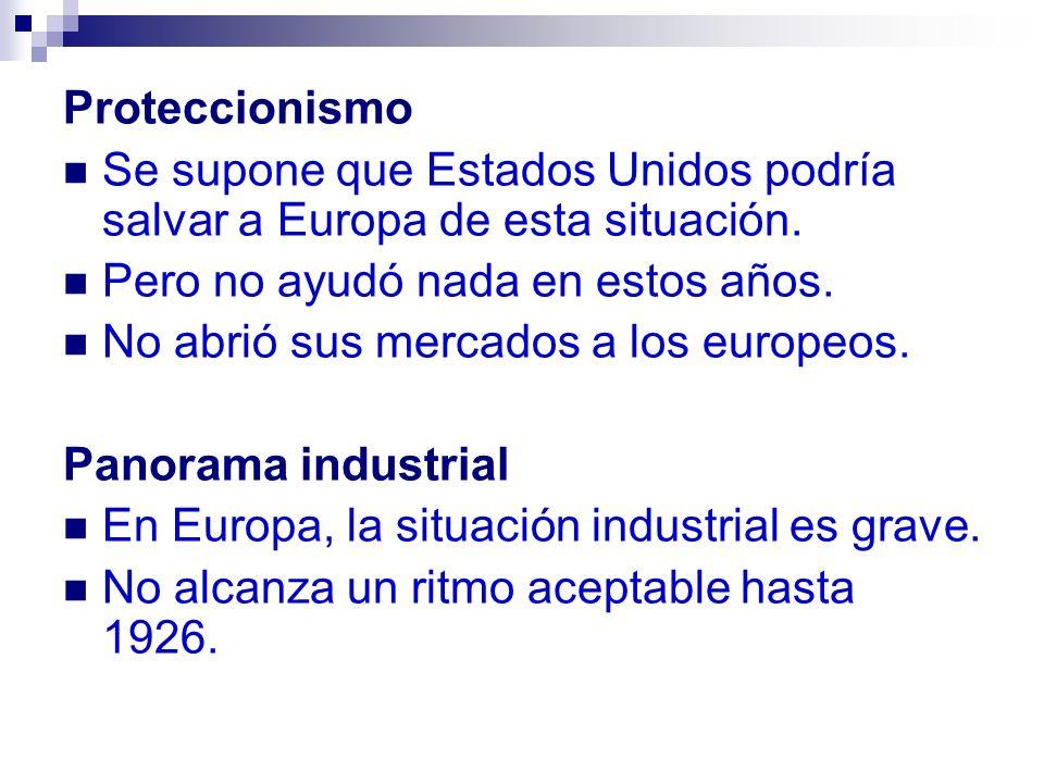 Situación más grave que la industria.Durante la guerra, algunos países se enriquecen.