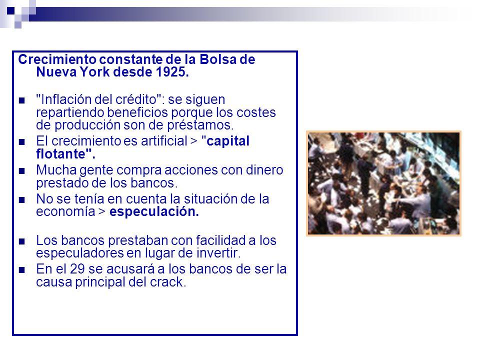 Crack de la Bolsa de Nueva York Universalidad Afecta a todo el mundo excepto a los países socialistas.