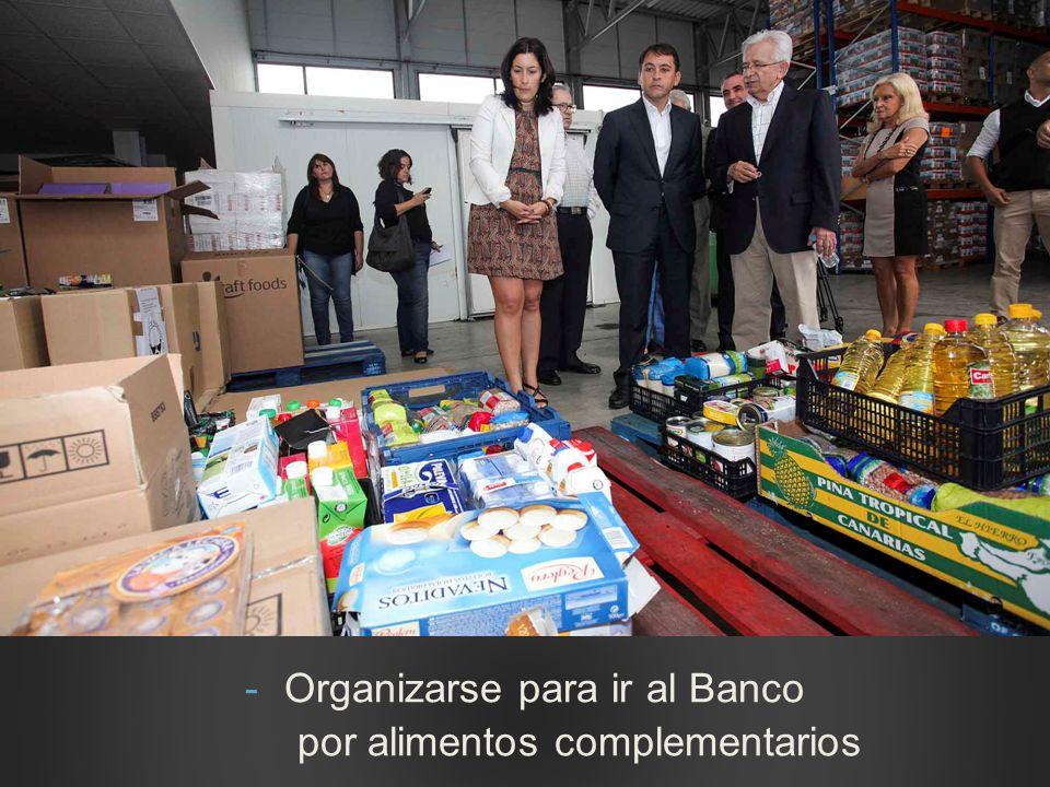 -Organizarse para ir al Banco por alimentos complementarios