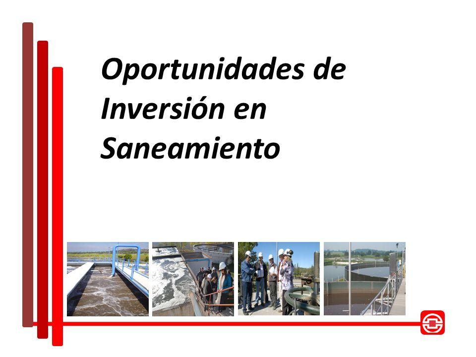 Oportunidades de Inversión en Saneamiento