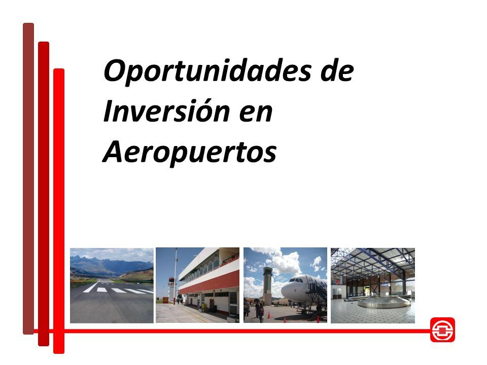 Aeropuertos Regionales– Segundo Grupo D E S C R I P C I Ó N APURIMAC AREQUIPA AYACUCHO PUNO MADRE DE DIOS TACNA Descripción: El proyecto consiste en la transferencia en concesión al sector privado del diseño, construcción, financiamiento, operación, mantenimiento y explotación de 6 aeropuertos regionales localizados en el sur del Perú (Tacna, Juliaca, Arequipa, Puerto Maldonado, Ayacucho y Andahuaylas).