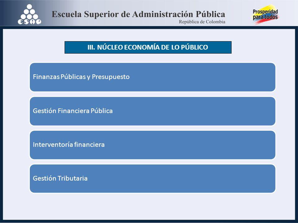 Finanzas Públicas y PresupuestoGestión Financiera PúblicaInterventoría financieraGestión Tributaria III.
