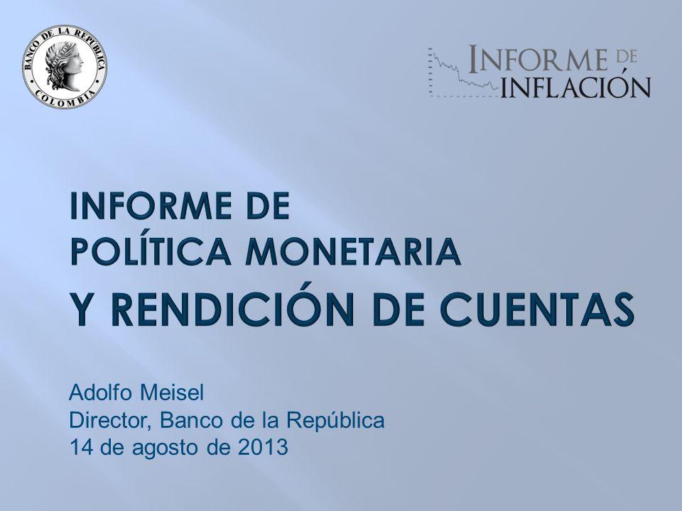 Adolfo Meisel Director, Banco de la República 14 de agosto de 2013