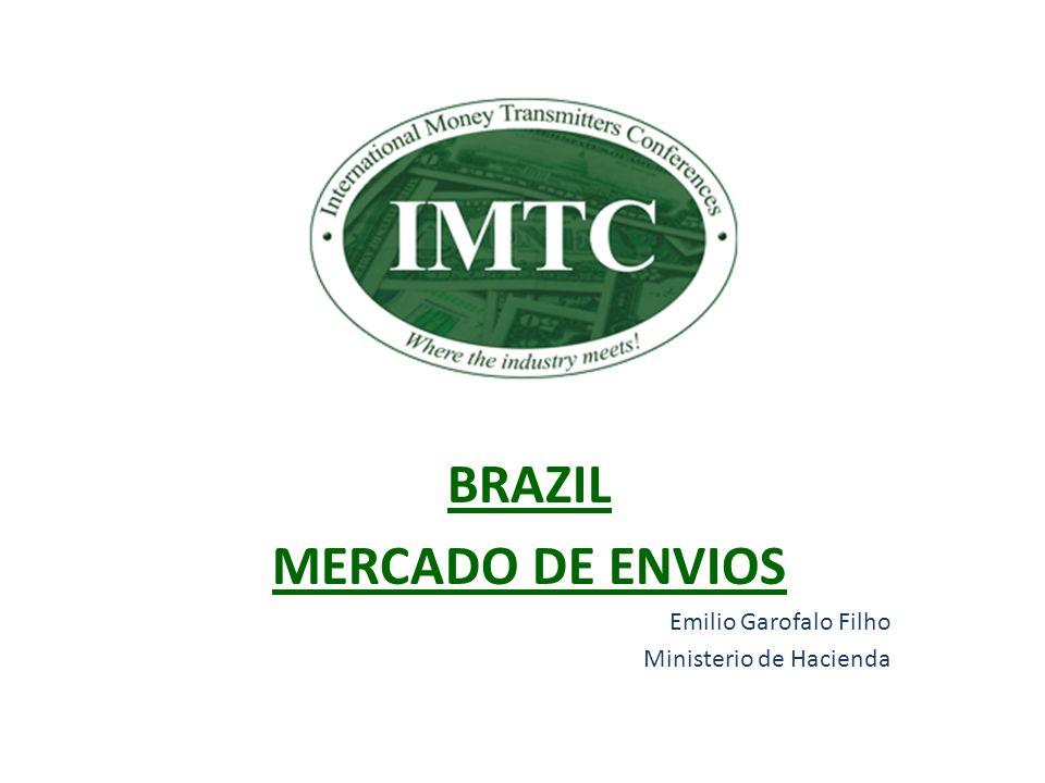 Evolución de los montos recibidos en Brasil – Datos oficiales AÑOVALOR US$ MILLONES 2005 2.217 2006 2.581 2007 2.295 2008 2.284 2009 1.555 Fuente: Banco Central do Brasil