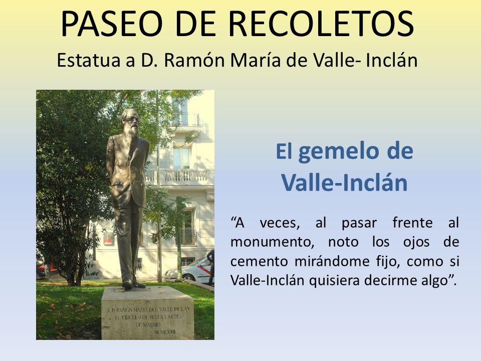 PASEO DE RECOLETOS Estatua a D.
