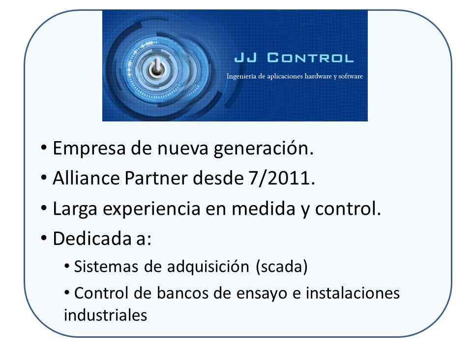 JJ Control ofrece Productos desarrollados para aplicación inmediata Data Control 11 (sistema scada basado en LabVIEW) Toolkits para desarrollo de aplicaciones Reloj µ segundo para LabVIEW Multilenguaje para aplicaciones LabVIEW Productos desarrollados a medida para aplicaciones especiales: Bancos de ensayo.