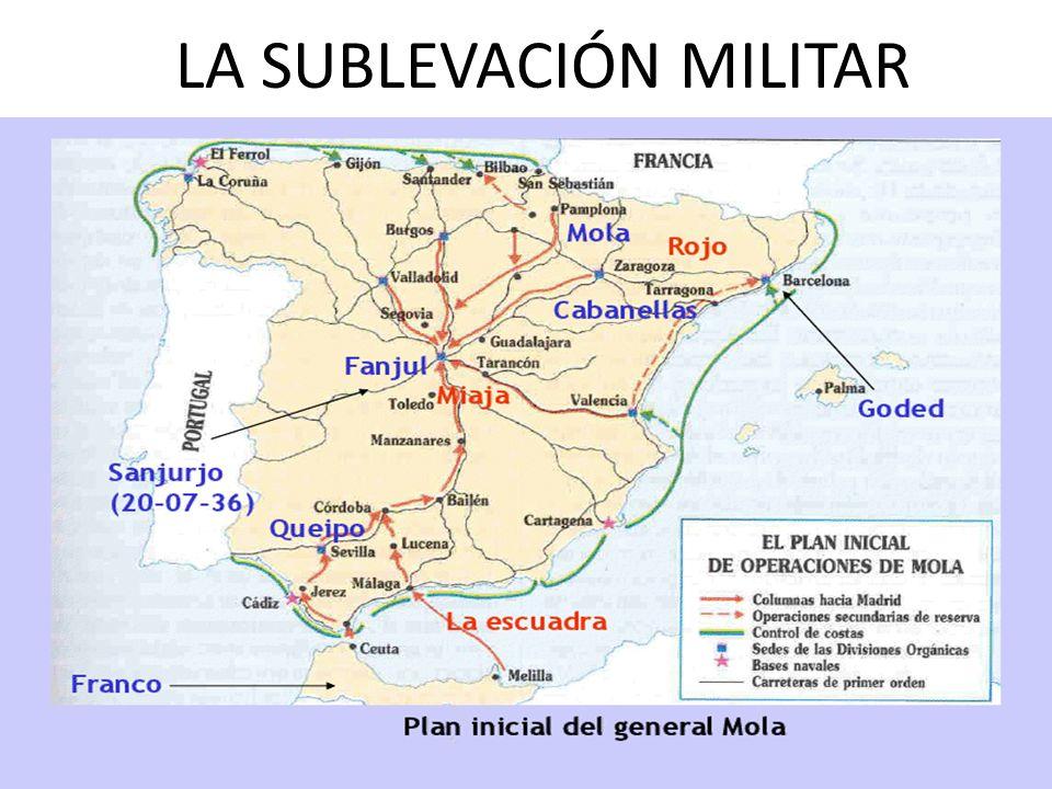 La zona Nacional La muerte del general Sanjurjo, el 20 de julio de 1936 cuando volaba desde Portugal hacia España, dejó a la insurrección sin un líder claro.