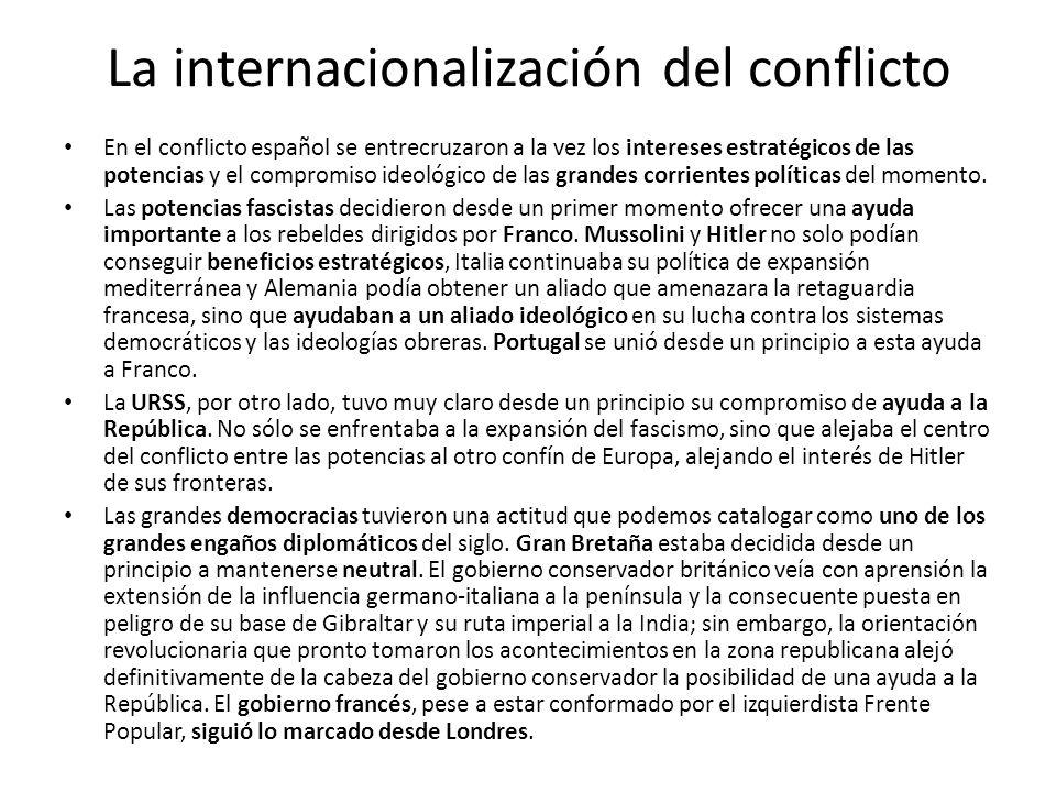 La internacionalización del conflicto En el conflicto español se entrecruzaron a la vez los intereses estratégicos de las potencias y el compromiso id