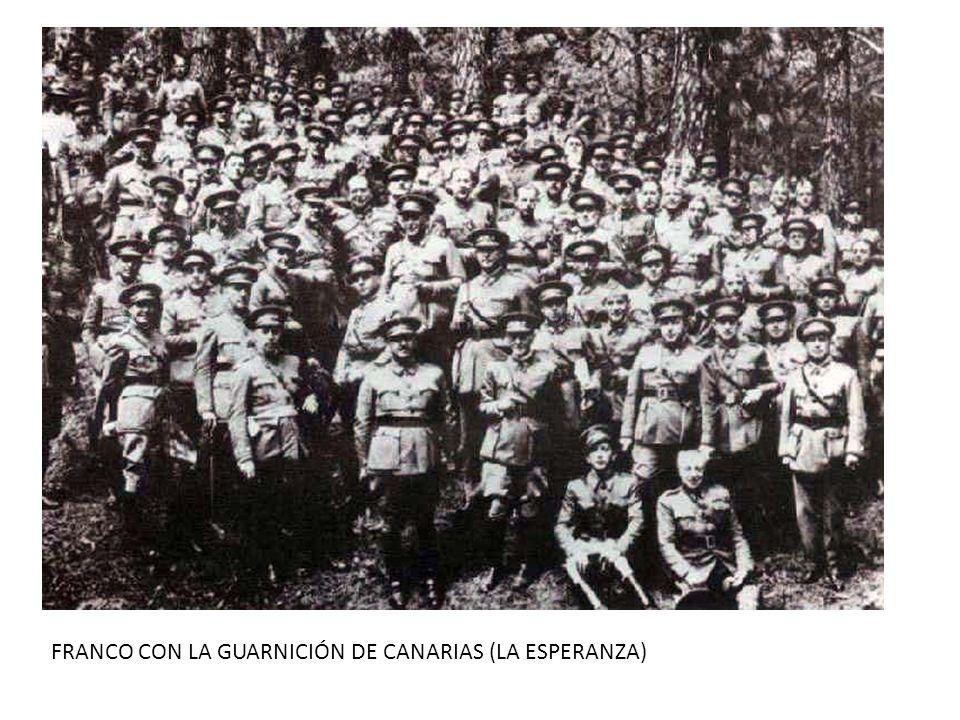 FRANCO CON LA GUARNICIÓN DE CANARIAS (LA ESPERANZA)