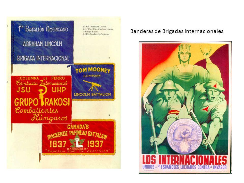 Banderas de Brigadas Internacionales