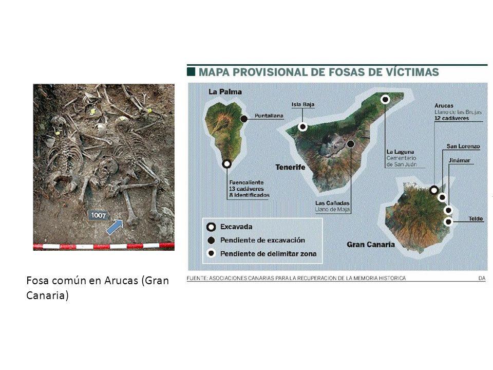 Fosa común en Arucas (Gran Canaria)