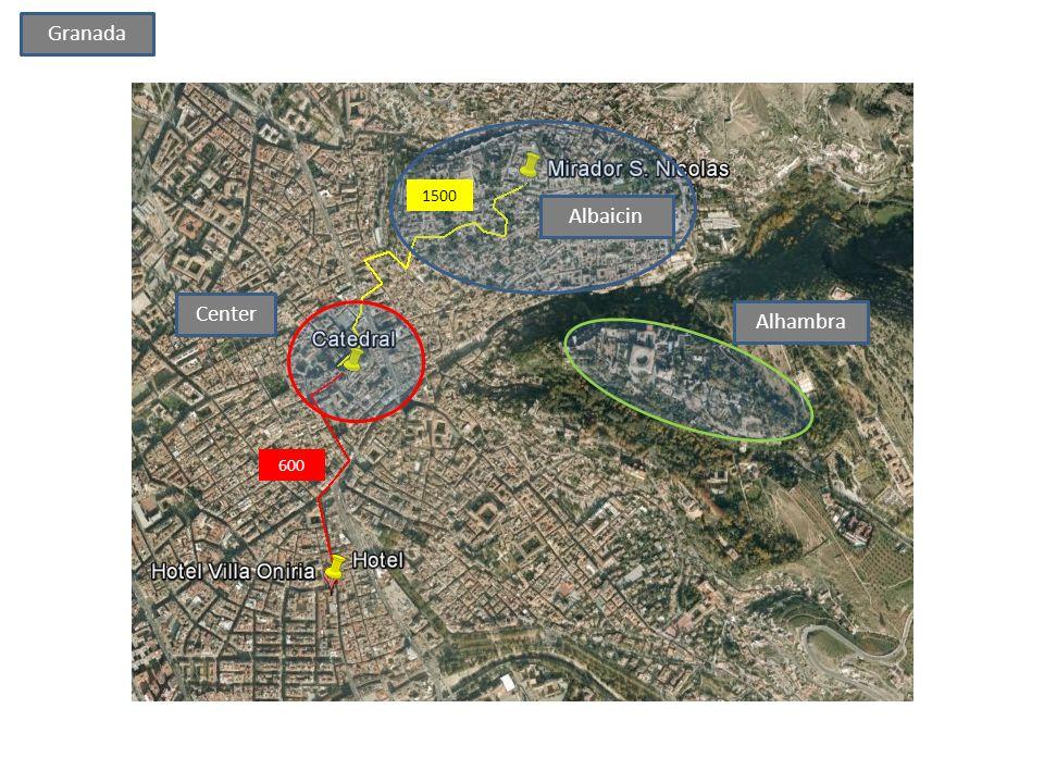 600 Center Alhambra Albaicin 1500 Granada