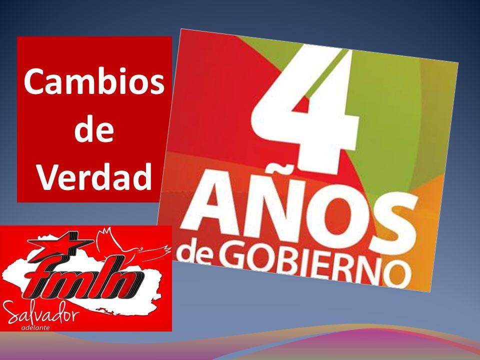 En estos cuatro años de gobierno del FMLN dimos el primer paso rumbo a El Salvador que queremos.
