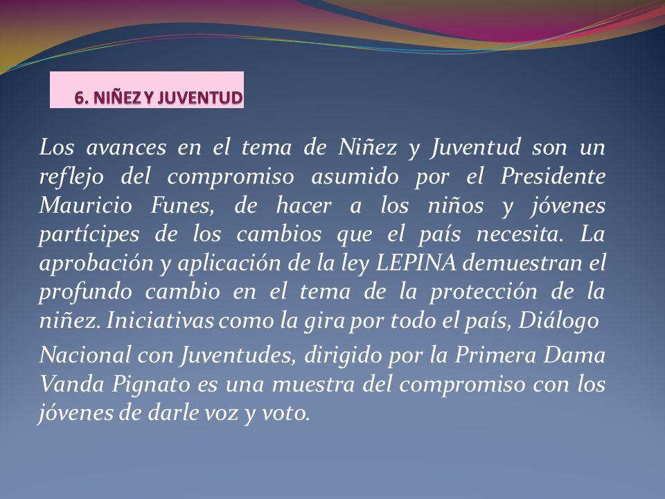 Los avances en el tema de Niñez y Juventud son un reflejo del compromiso asumido por el Presidente Mauricio Funes, de hacer a los niños y jóvenes part