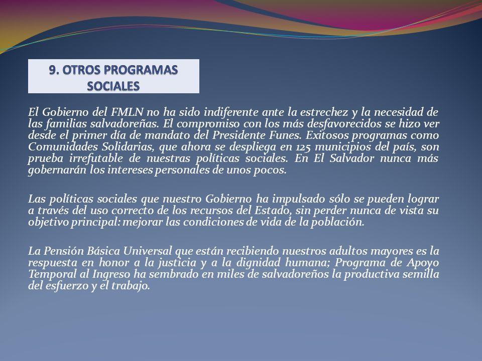 El Gobierno del FMLN no ha sido indiferente ante la estrechez y la necesidad de las familias salvadoreñas. El compromiso con los más desfavorecidos se