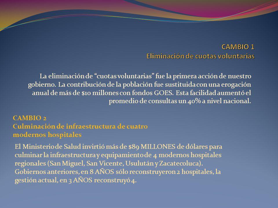 CAMBIO 100 Creación del Programa de Manejo Integral de Desechos Sólidos Desde el 2010 El Salvador cuenta con este programa, donde participan varias oficinas de gobierno bajo el liderazgo del MARN.
