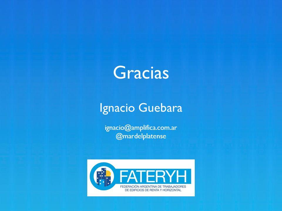 Gracias Ignacio Guebara ignacio@amplifica.com.ar @mardelplatense