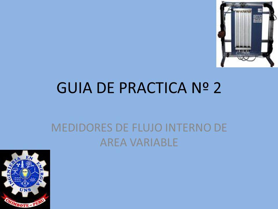GUIA DE PRACTICA Nº 2 MEDIDORES DE FLUJO INTERNO DE AREA VARIABLE
