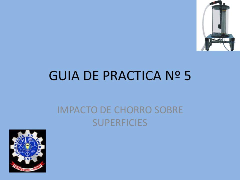 GUIA DE PRACTICA Nº 5 IMPACTO DE CHORRO SOBRE SUPERFICIES