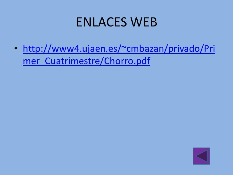 ENLACES WEB http://www4.ujaen.es/~cmbazan/privado/Pri mer_Cuatrimestre/Chorro.pdf http://www4.ujaen.es/~cmbazan/privado/Pri mer_Cuatrimestre/Chorro.pd