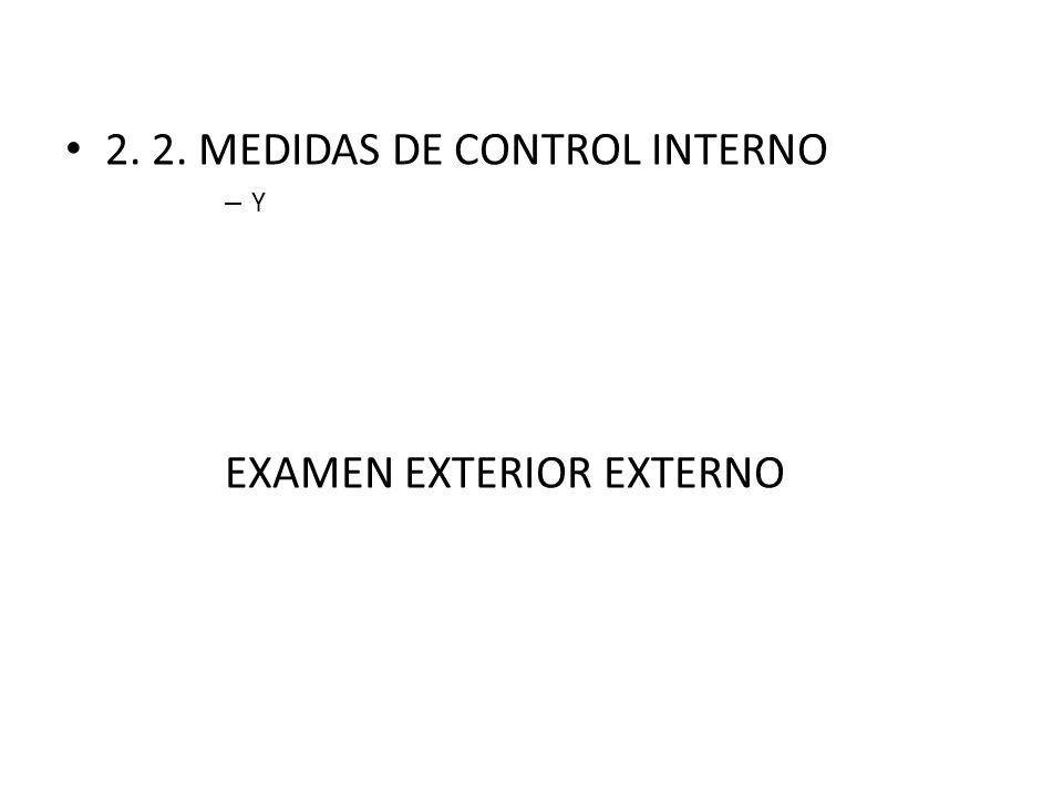 2. 2. MEDIDAS DE CONTROL INTERNO – Y EXAMEN EXTERIOR EXTERNO