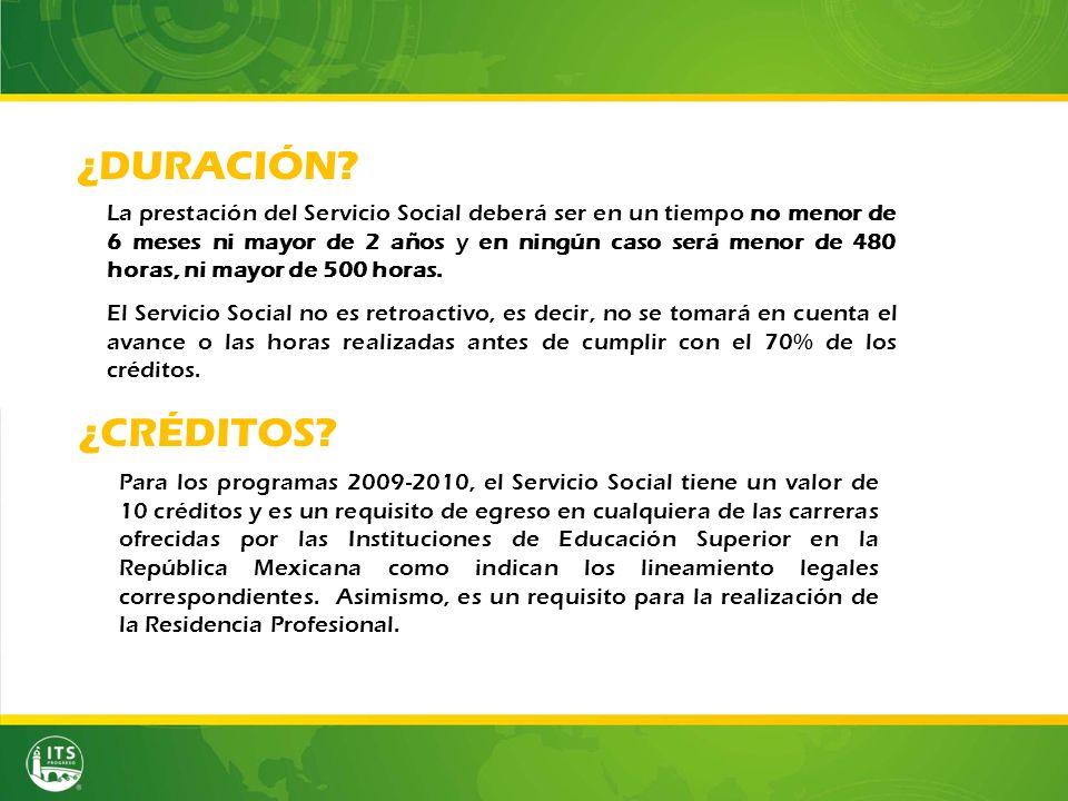 El Servicio Social no es retroactivo, es decir, no se tomará en cuenta el avance o las horas realizadas antes de cumplir con el 70% de los créditos.
