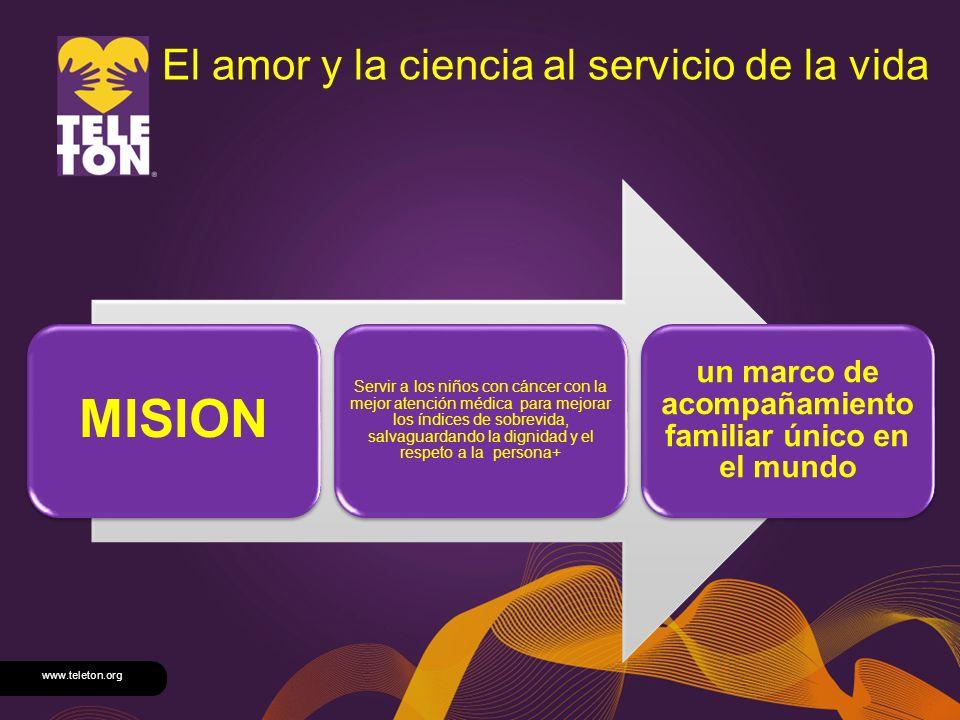 www.teleton.org El amor y la ciencia al servicio de la vida MISION Servir a los niños con cáncer con la mejor atención médica para mejorar los índices