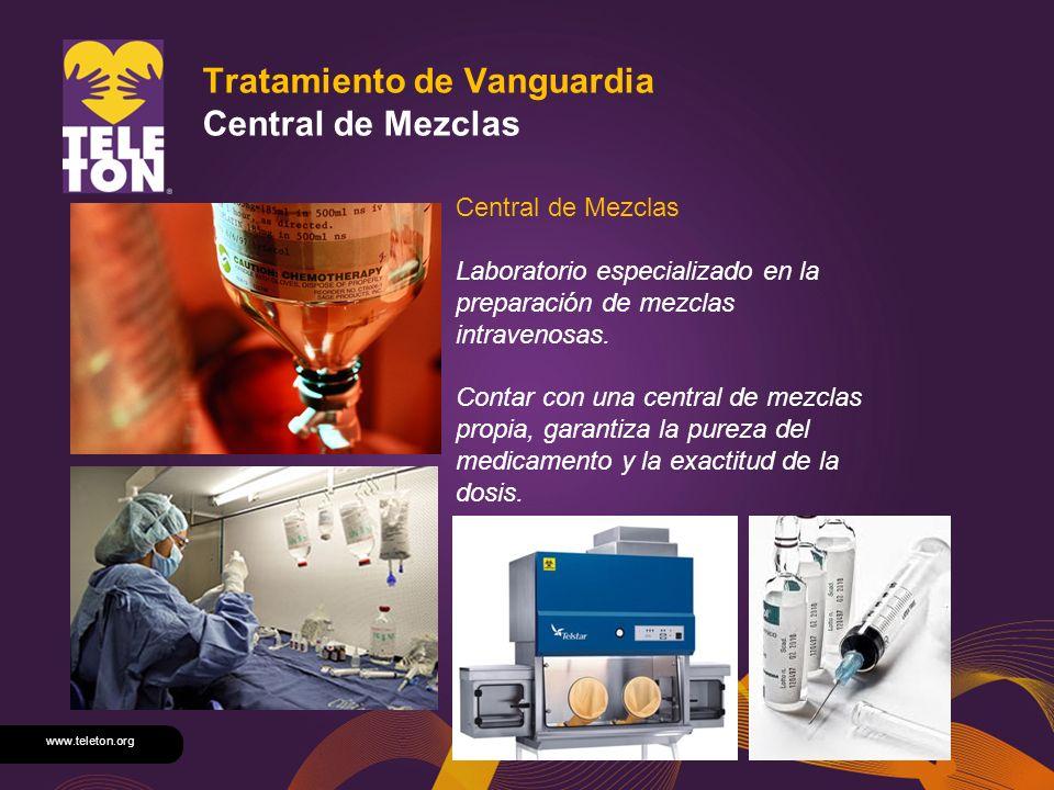 www.teleton.org Tratamiento de Vanguardia Central de Mezclas Central de Mezclas Laboratorio especializado en la preparación de mezclas intravenosas. C