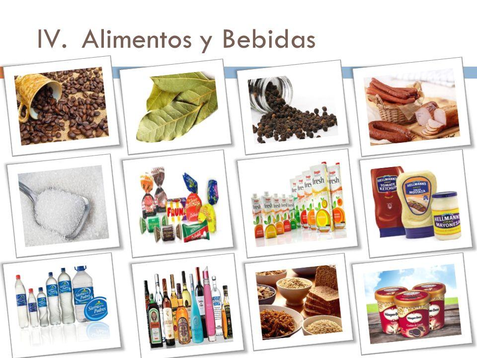 IV.Alimentos y Bebidas