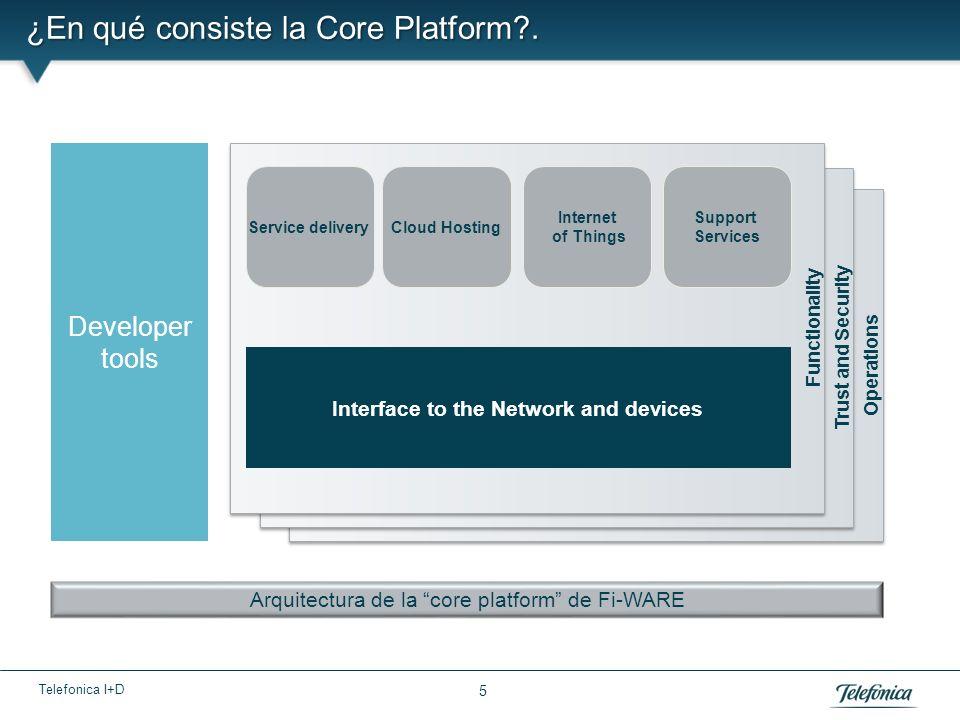 Telefonica I+D 6 La Core Platform es un elemento de nuestra estrategia.