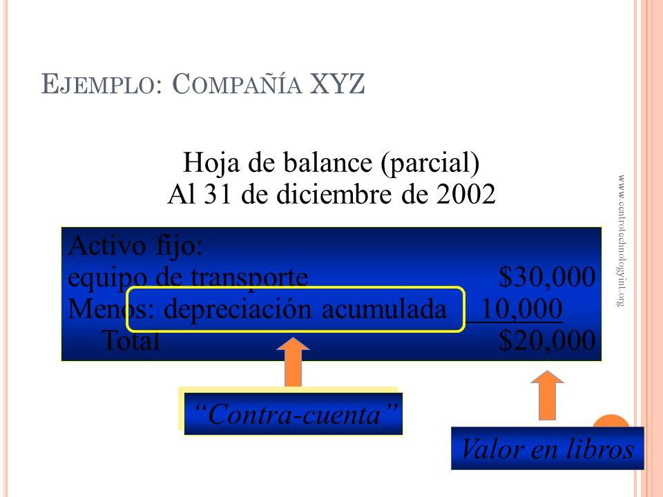 Forma parte de un par de cuentas El saldo de la contra-cuenta es de naturaleza contraria a la cuenta que acompaña Depreciación acumulada es la contra-