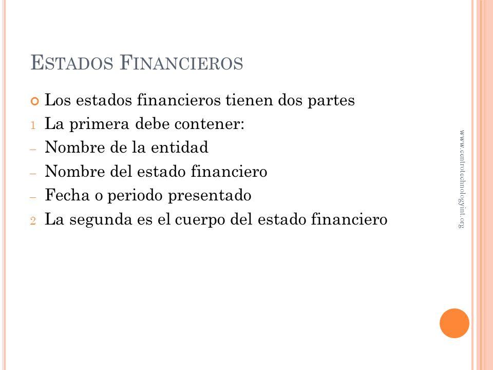 O BJETIVO 5 Preparar los estados financieros usando la información ajustada www.centrotechnologyint.org