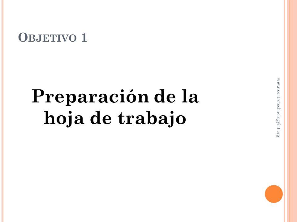 P ROCESO DE CIERRE DEL CICLO CONTABLE Capítulo 4 www.centrotechnologyint.org