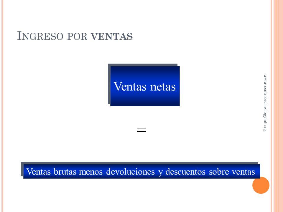 O BJETIVO 1 Usar ventas y utilidad bruta para evaluar una compañía www.centrotechnologyint.org